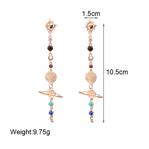 Net Red INS Color Long Earrings