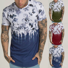 Round Neck Printed Tight-Fitting Short-Sleeved T-Shirt