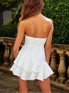 Sleeveless Wrapped Chest Backless Sweet Slim Dress