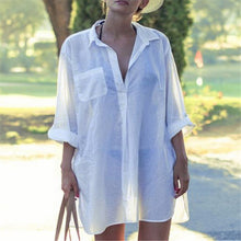 Thin Loose Seaside Holiday Shirt