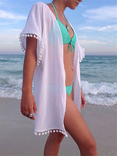 Beach Blouse Seven-Point Sleeve Lace Stitching Cardigan