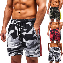 Summer Men's Casual Shorts Camouflage Printed Fitness Pants