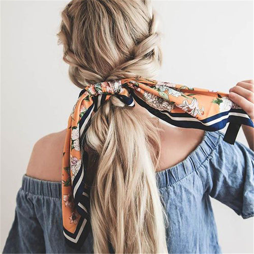 Printed Fabric Bow Hair Accessories