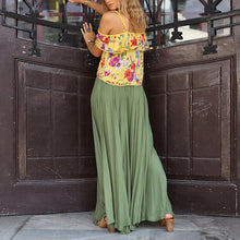 Bohemian Beach Holiday Pleated Printed Dress Suit