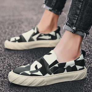 Printed Breathable Canvas Casual Shoes