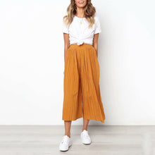 Fashion Casual Wild Pleated Wave   Point Wide Leg Pants