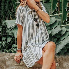 Vacation Casual Loose Mini Dress