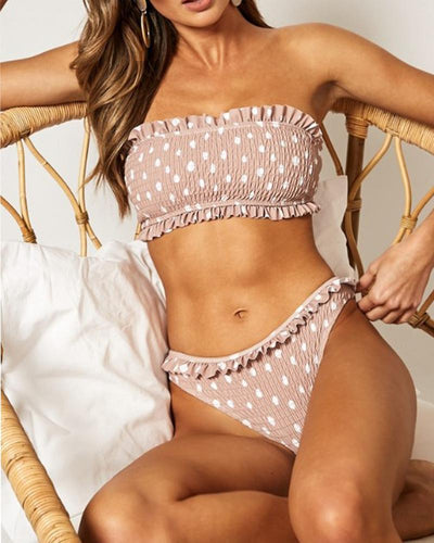 2019 New Pleated Sexy Split Bikini