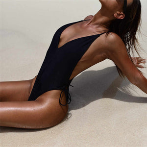 2019 New Summer Sexy Solid Color Hollow One-Piece Bikini