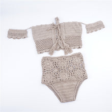 Summer Hand-Knitted One-Shoulder Bikini Swimsuit