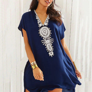 Lace Loose Seaside Vacation   Swimsuit Cover Up Dress