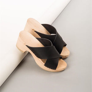 Waterproof Platform Opentoe Large Size Shoes