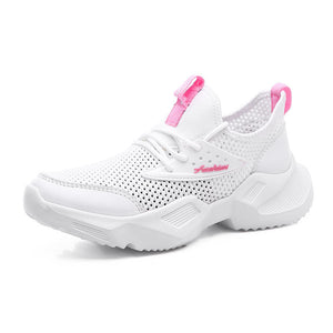 Mesh Breathable Wild Sports Casual White Shoes