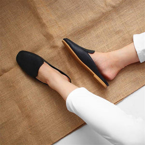 Ladies Comfortable Square Scalp Pattern Muller Shoes