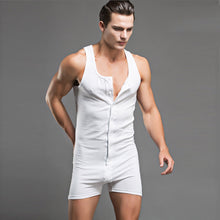 Cotton One-Piece Vest Suit Sexy Underwear Pajamas