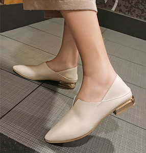 Fashion Pointed Shallow Low Heel Flats