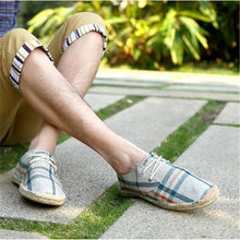 New Male Fisherman Canvas Shoes Flat Grass Shoes