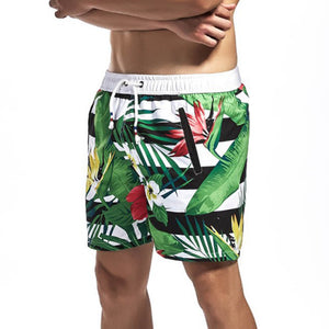 Men's Plant Print Beach Pants