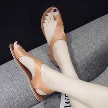 Large Size New Flat Velcro Casual Women's Sandals