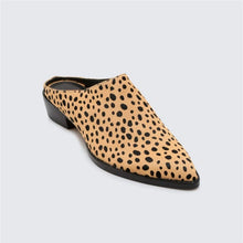 Ladies Comfortable Printed Leather Muller Heel Shoes
