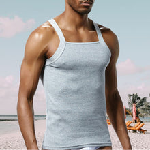 Men's Solid Color Sexy Slim Cotton Sports Fitness Vest