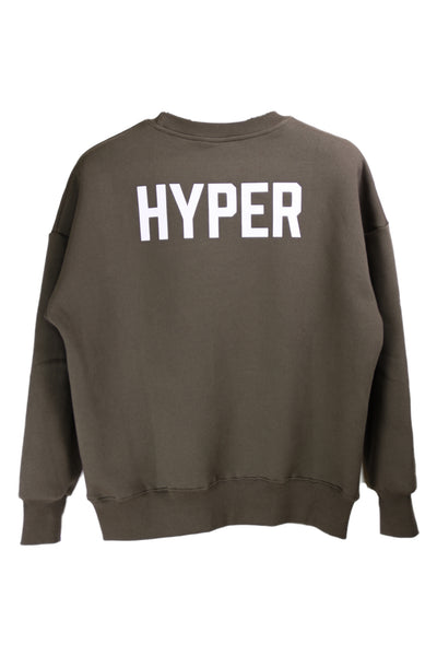 "HYPERGIANT ""HYPER"" Oversized Drop Shoulder Jumper - ASH GREEN"