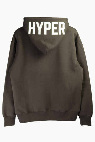 "HYPERGIANT ""HYPER"" Oversized Drop Shoulder Hoodie - ASH GREEN"