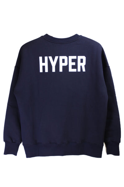 "HYPERGIANT ""HYPER"" Oversized Drop Shoulder Jumper - NAVY"