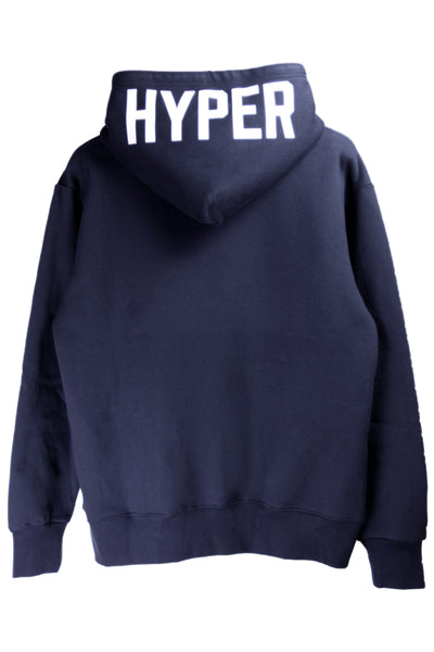 "HYPERGIANT ""HYPER"" Oversized Drop Shoulder Hoodie - NAVY"
