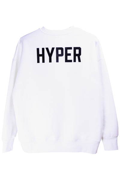 "HYPERGIANT ""HYPER"" Oversized Drop Shoulder Jumper - WHITE"