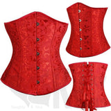 Beautiful Buttoned, Absolute Under-Bust Corset Collection - With a FREE G-String