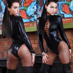 Dominatrix Dream Wet Look Catsuit
