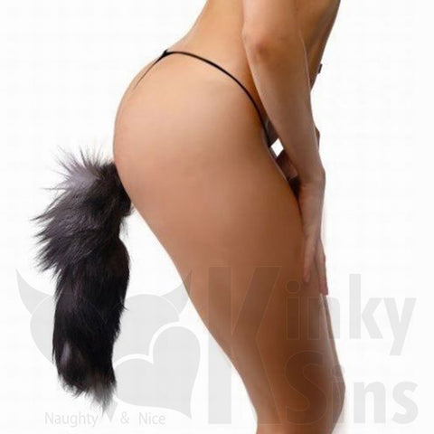 Frisky Fox Tail Small Stainless Steel Butt Plug