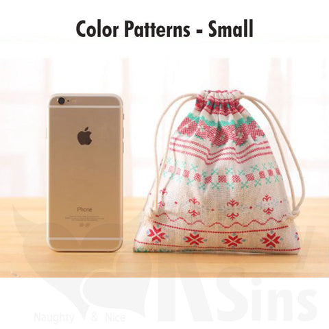 Handmade Colorful Cotton Drawstring Storage Bags