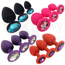 Jewels of Silicone Butt Plug Set