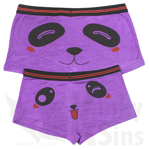 Matching Panda Couples Briefs Set