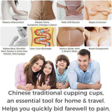 Set of 6 - Traditional Chinese Style Suction Cupping Cups