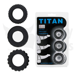 Premium Triple Titan Cock Ring Set