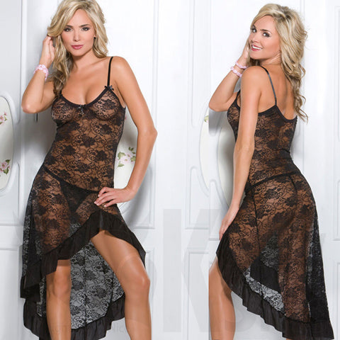 Sheer Classic Beauty Lingerie Dress - FREE Thong