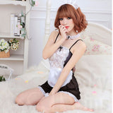 Sheer French Maid Fantasy Costume