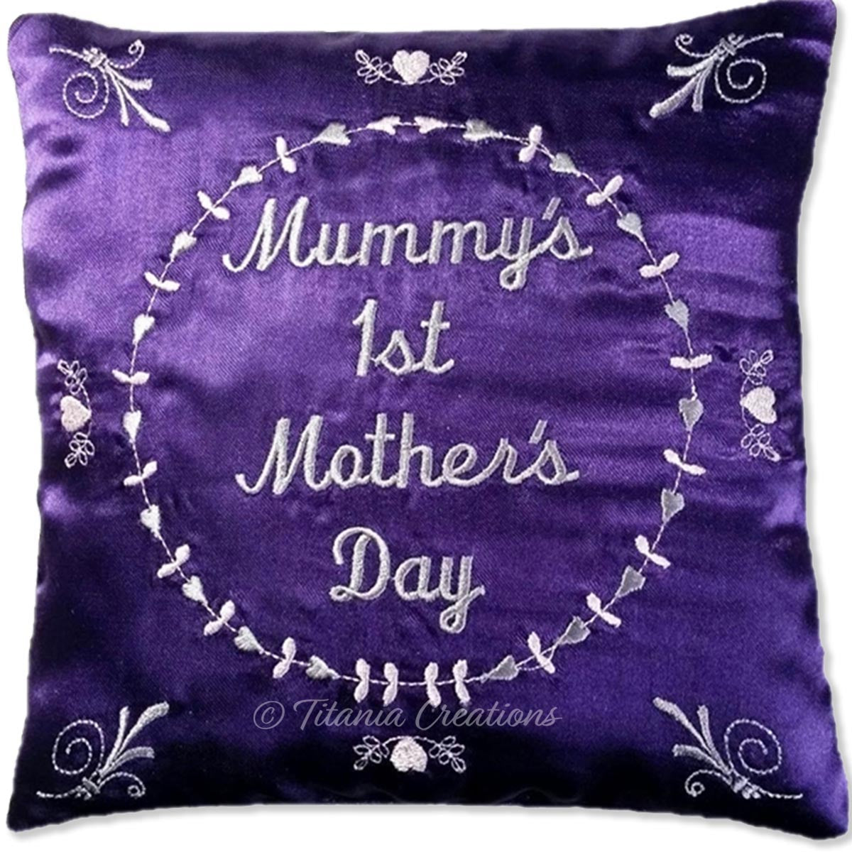 ITH 1st Mothers Day Pillow 5x5 6x6 8x8