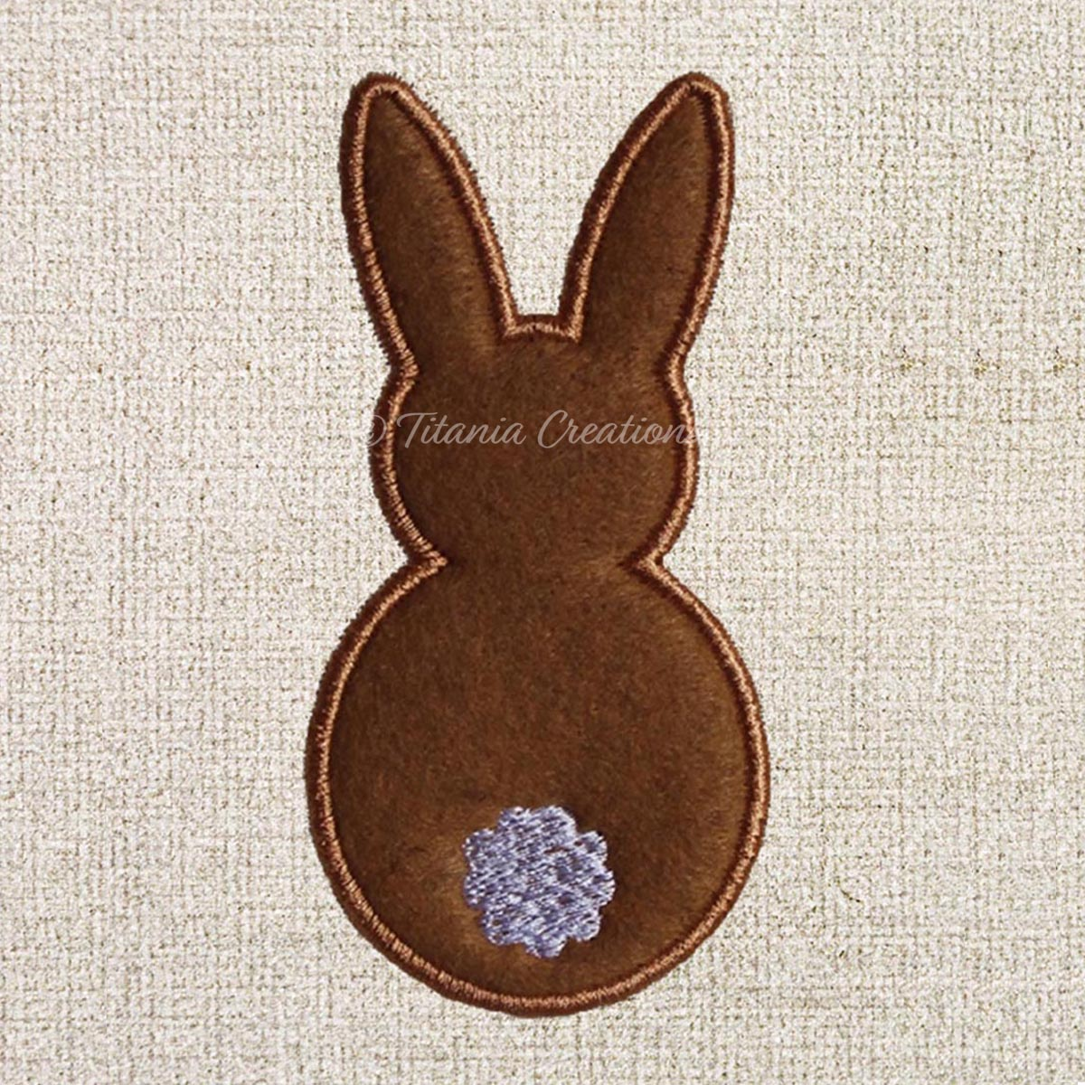 Applique Bunny 4x4 5x7