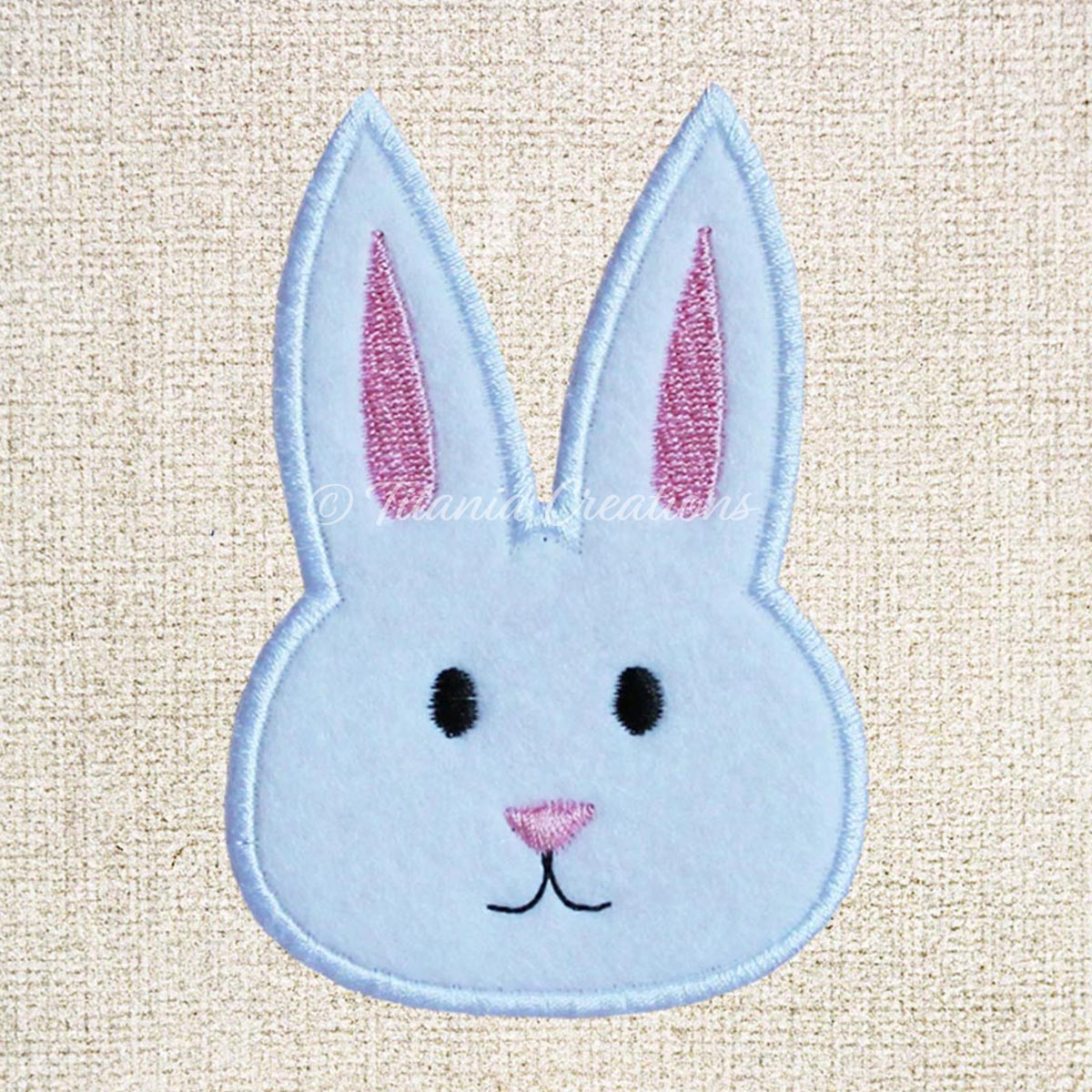 Applique Bunny Face 4x4 5x7