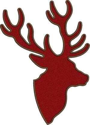 Applique Stag 5x7 or 6x10 or 8x12 Sold Separately
