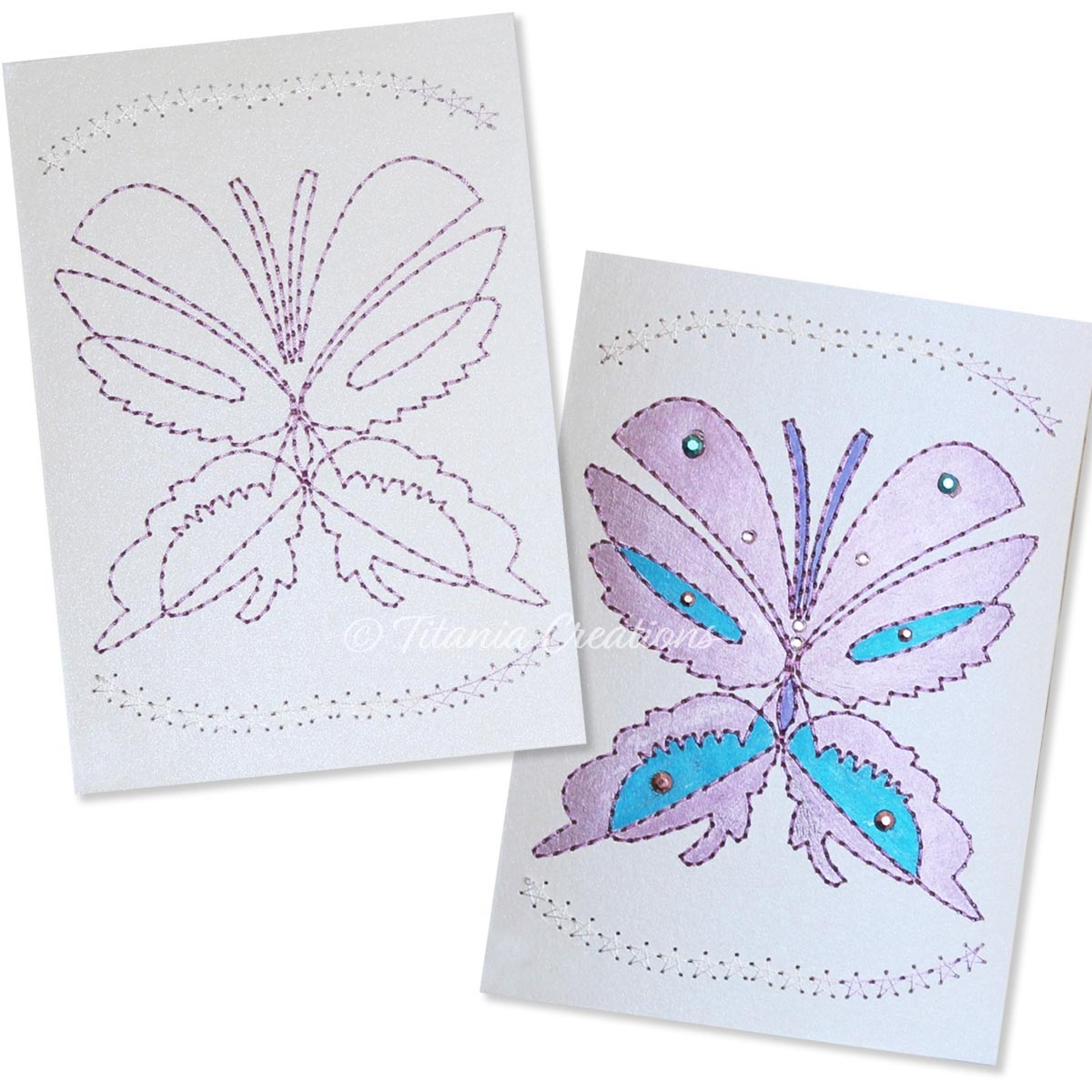 Card Stock Butterfly 01 5x7