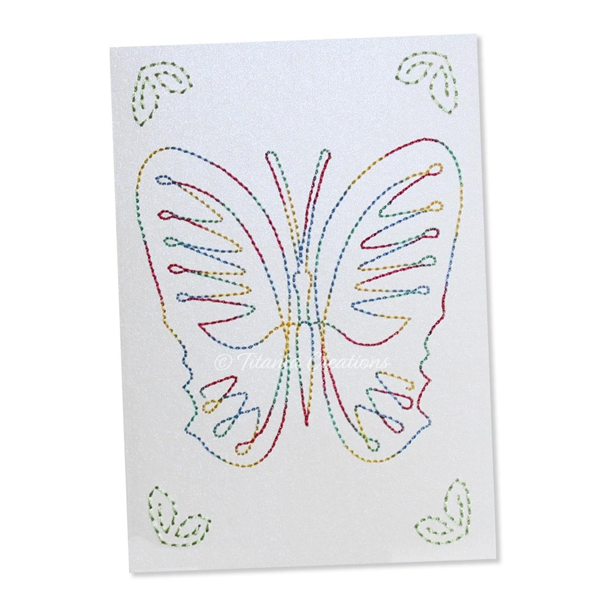 Card Stock Butterfly 02 5x7