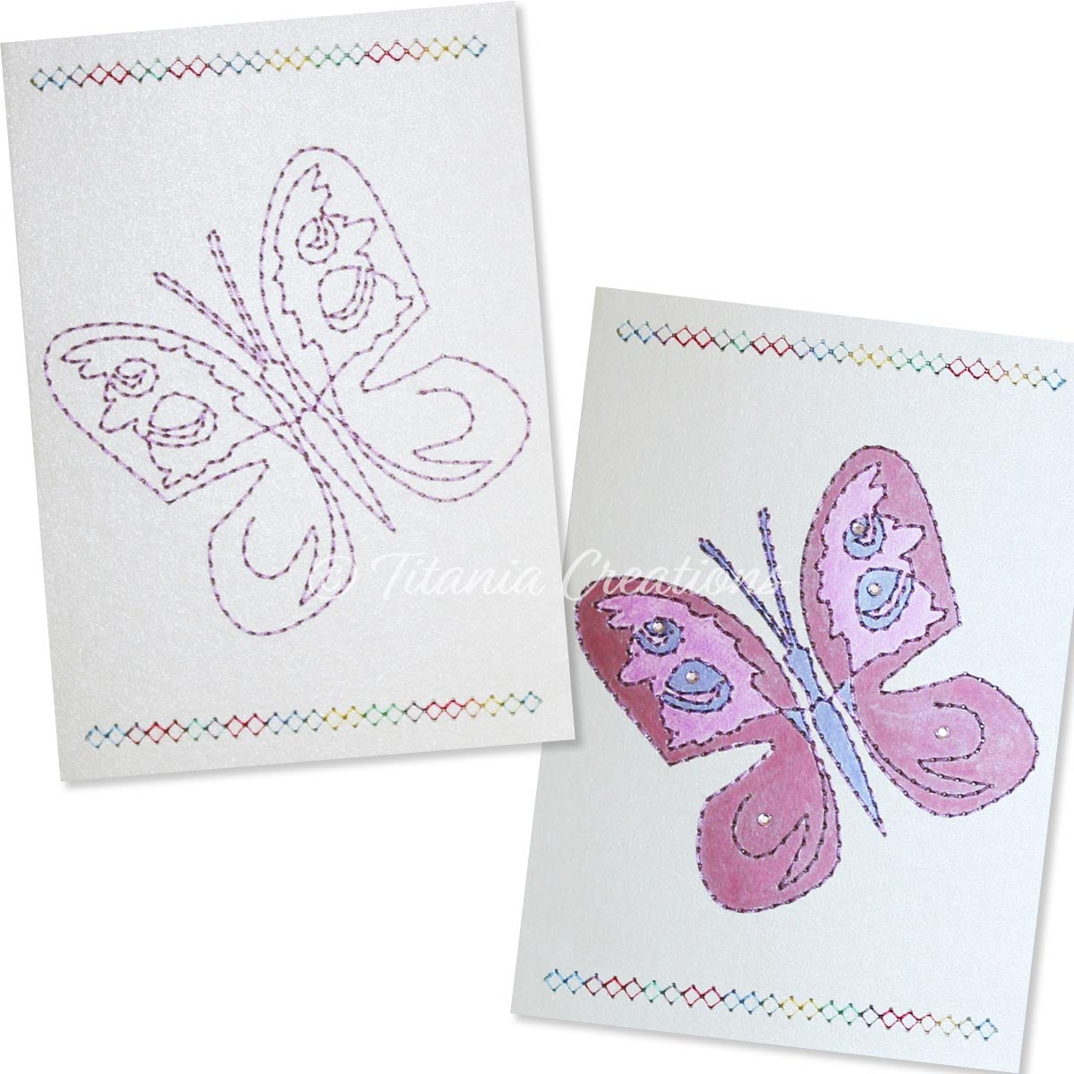 Card Stock Butterfly 03 5x7