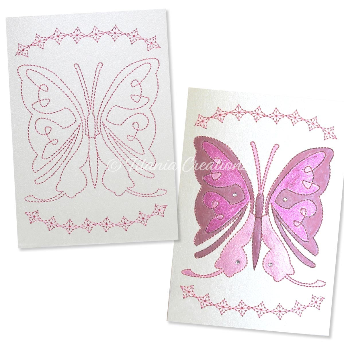 Card Stock Butterfly 04 5x7