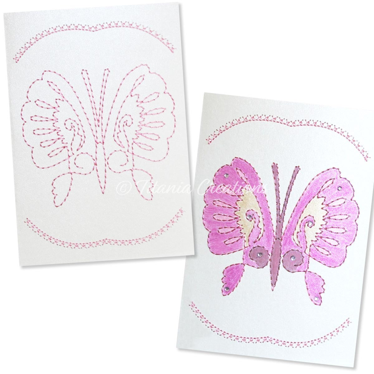 Card Stock Butterfly 05 5x7