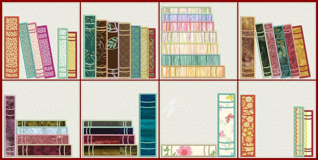 Book Quilt Blocks Set of 8   5x5 OR 6x6 OR 8x8 (sold separately)